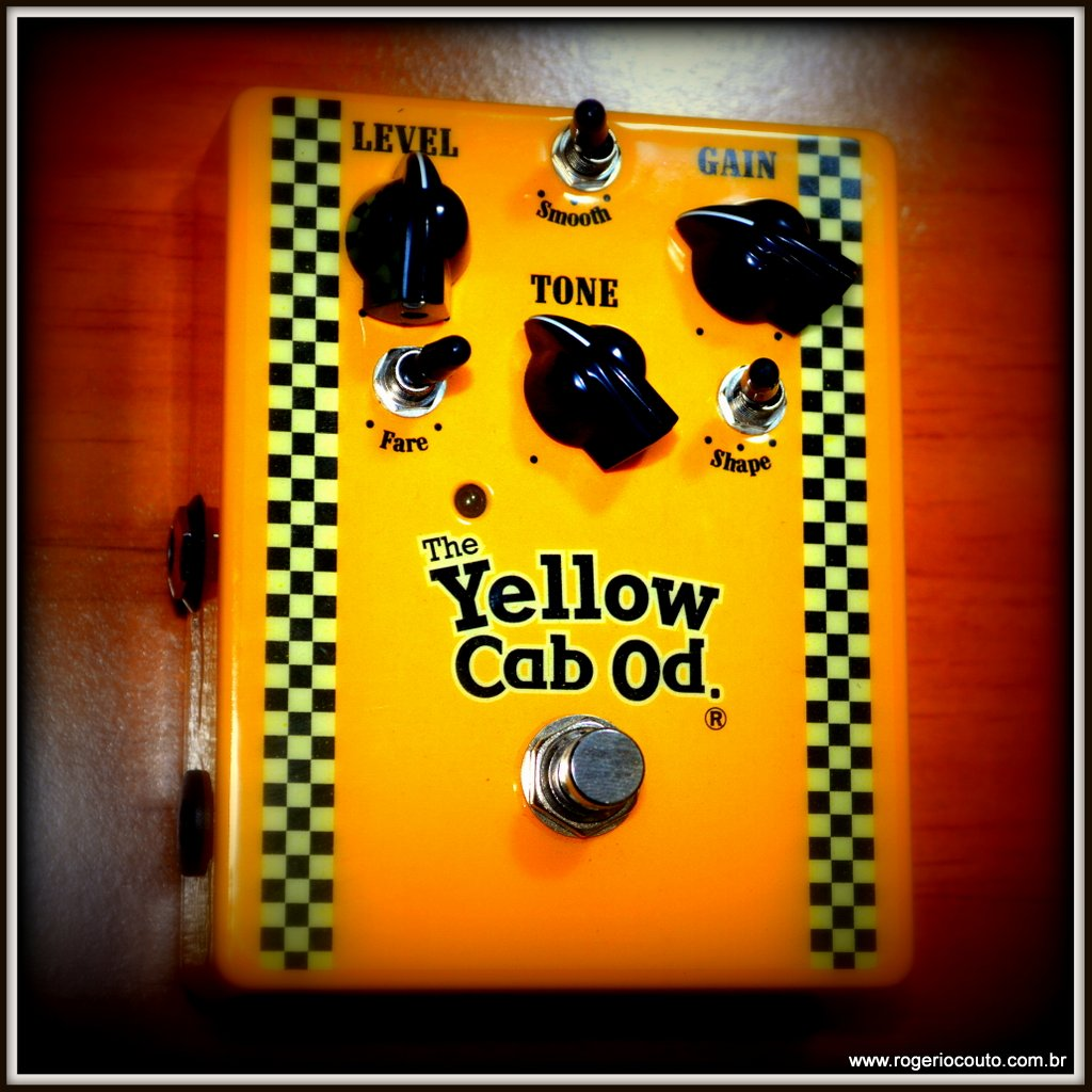 yellow cab overdrive pedal vista frontal