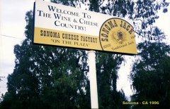 Placa de boas Vindas em Sonoma